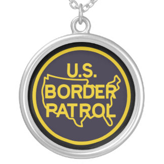 United States Border Patrol Silver Plated Necklace