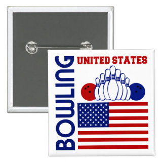 United States Bowling Button