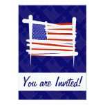 "United States Brush Flag 5"" X 7"" Invitation Card"