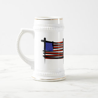 United States Brush Flag Beer Stein