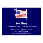 United States Brush Flag Business Card Template