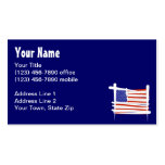 United States Brush Flag Business Card Templates