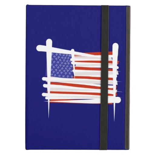 United States Brush Flag iPad Folio Case