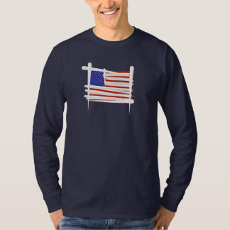 United States Brush Flag Shirt