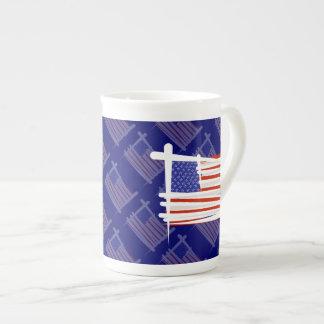 United States Brush Flag Tea Cup