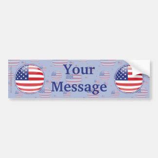United States Bubble Flag Car Bumper Sticker