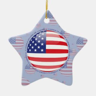 United States Bubble Flag Ceramic Ornament
