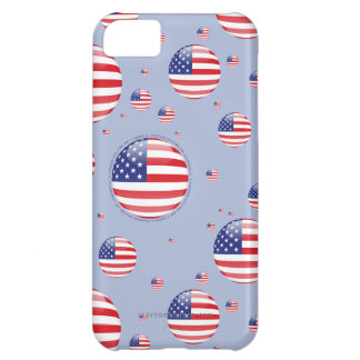 United States Bubble Flag Cover For iPhone 5C