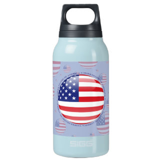 United States Bubble Flag Insulated Water Bottle