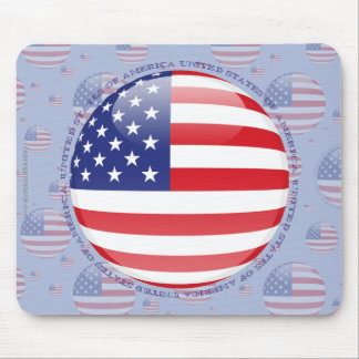 United States Bubble Flag Mouse Pad