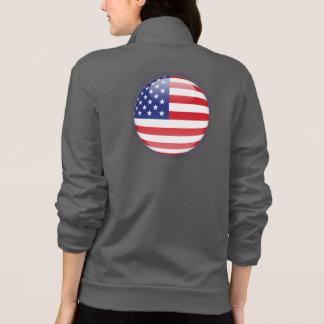 United States Bubble Flag Printed Jackets