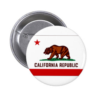United States California Flag Pinback Buttons