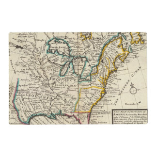 United States, Canada, North America Placemat