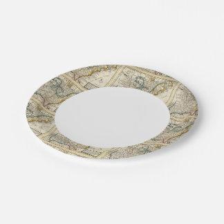United States, Canada, North America 7 Inch Paper Plate