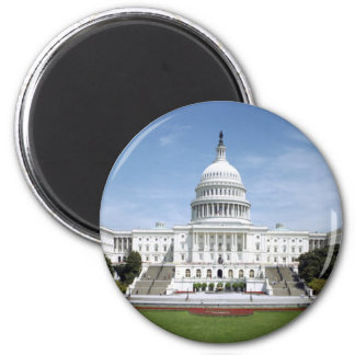 United States Capitol Building 2 Inch Round Magnet