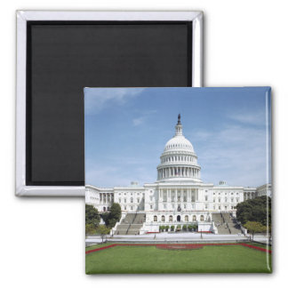 United States Capitol Building 2 Inch Square Magnet