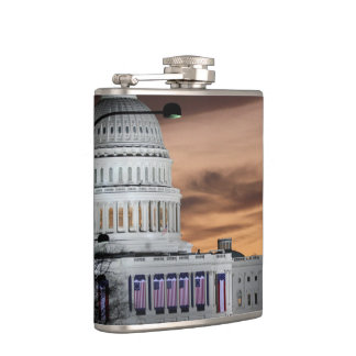 United States Capitol Building at Dusk Flask