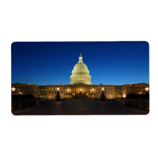 United States Capitol Building at Dusk Shipping Labels