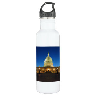 United States Capitol Building at Dusk 24oz Water Bottle
