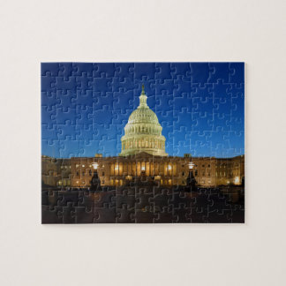 United States Capitol Building at Dusk Jigsaw Puzzle