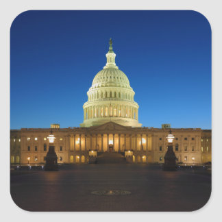 United States Capitol Building at Dusk Sticker