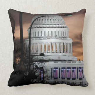 United States Capitol Building at Dusk Throw Pillow