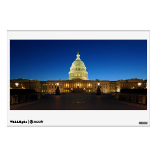 United States Capitol Building at Dusk Wall Decal