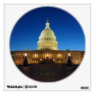 United States Capitol Building at Dusk Wall Graphic