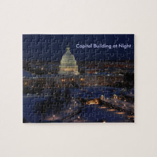 United States Capitol Building at Night Jigsaw Puzzle