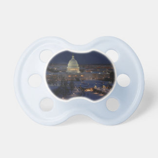 United States Capitol Building at Night Pacifier