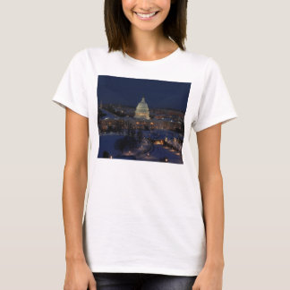 United States Capitol Building at Night T-Shirt