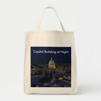 United States Capitol Building at Night Tote Bag
