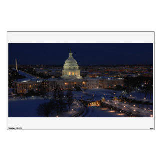 United States Capitol Building at Night Wall Sticker