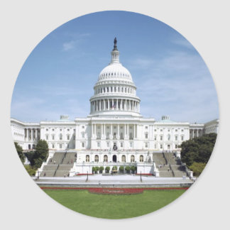 United States Capitol Building Classic Round Sticker