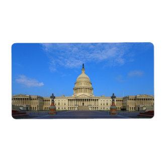 United States Capitol Building East Side Custom Shipping Label