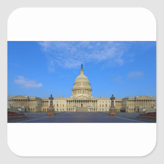 United States Capitol Building East Side Square Stickers