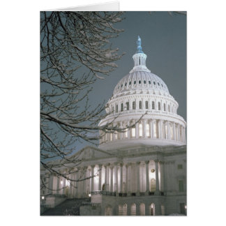 United States Capitol Building in Winter Dress Greeting Card