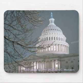 United States Capitol Building in Winter Dress Mouse Mats