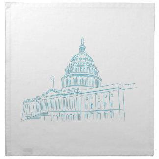 United States Capitol Building Landmark Napkin