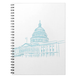 United States Capitol Building Landmark Note Books
