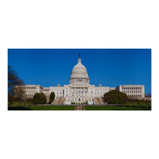 United States Capitol Building Western Front Poster