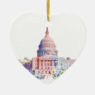 United States Capitol Ceramic Ornament