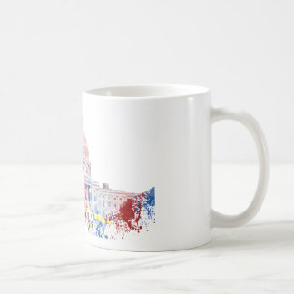 United States Capitol color customizable Coffee Mugs