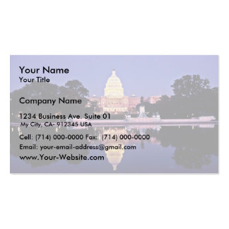 United States Capitol Double-Sided Standard Business Cards (Pack Of 100)