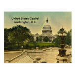 United States Capitol from Library Steps Date 1898 Postcard