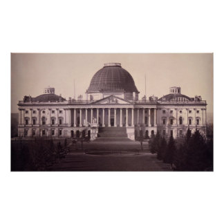 United States Capitol in Washington D.C. from 1846 Poster