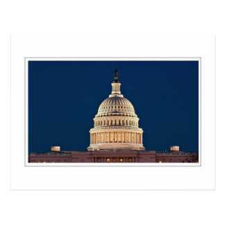 UNITED STATES CAPITOL - Night Postcard