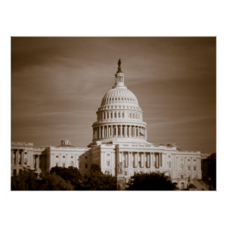 United States Capitol Old Time Print