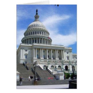 United States Capitol White House Washington DC Card