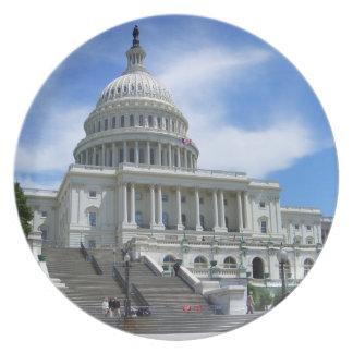 United States Capitol White House Washington DC Dinner Plate